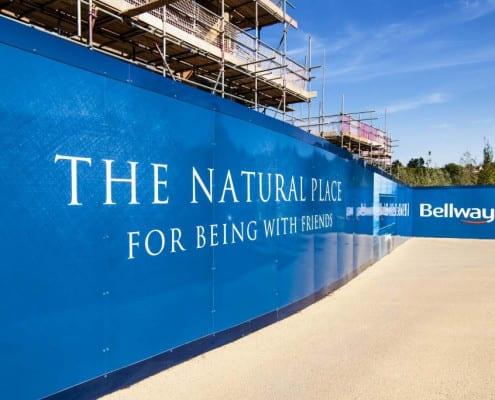 Bellway Site Hoarding Construction
